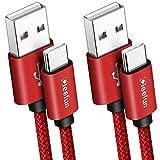 CLEEFUN Cable USB C, [2 Pack 1M] 3A Rapide Premium Nylon Câble Charguer pour Samsung Galaxy S9 S10...