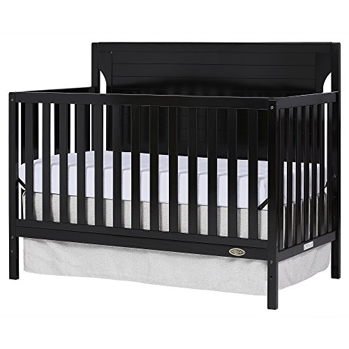Dream On Me Cape Cod 5 in 1 Convertible Crib in Black