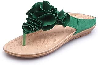 Women's Bohemia Floral Flip Flops Sandals Beach Slippers Shoes