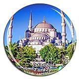 Mezquita Azul Estambul, Turquía, Imán de Nevera, Cristal de Cristal, Turista, Ciudad, Viaje, Recuerdo, Colección, Regalo, Fuerte, Refrigerador, Pegatina