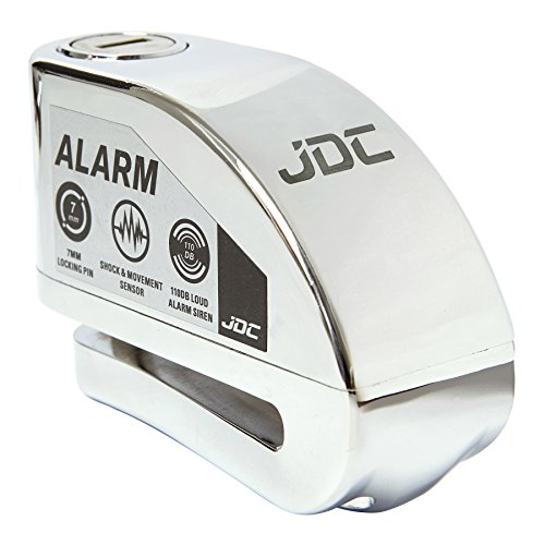 JDC Motorrad Bremsscheibenschloss Alarm - Jaws - Chrom
