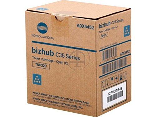 Konica Minolta Toner TNP-22C für Bizhub C35/C35P, A0X5452, cyan
