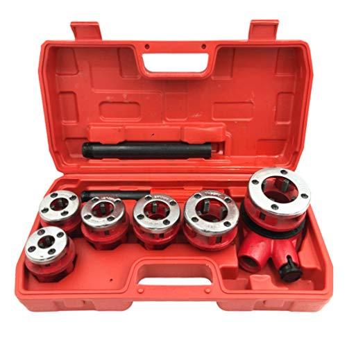 Snijijzer hand-hydraulische koffer van kunststof. Schroefdraad van 1/4 inch - 3/8'-1/2 inch - 3/4 – 1 1/4 inch, portafiliere omkeerbaar, verlenging voor krik.