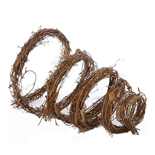 Branch Wreath Natural Vine Twig Grapevine Garland Rattan Rings Large Wooden Decorative for Christmas Halloween
