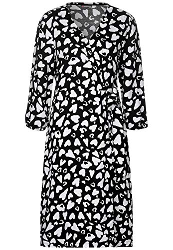 Street One 142550 Robe, Multicolore (Black 20001), 46 (Taille Fabricant: 44) Femme
