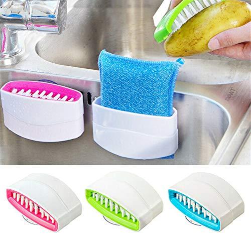 youfenghui Innenspüle Saugnapf-Reinigungsbürste, Besteck-Saugnapf, Klingenbürstenmesser und Besteck-Reiniger für Schaufelstäbchen Scherenbesteck