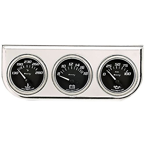 Equus 7200 2' Volt Triple Gauge Kit, Chrome