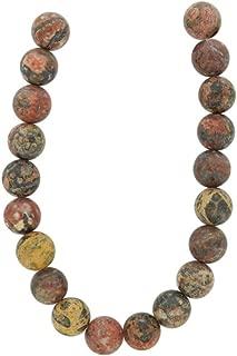 Tennessee Crafts 1233 Semi Precious Leopard Skin Jasper Beads, Round, 10mm