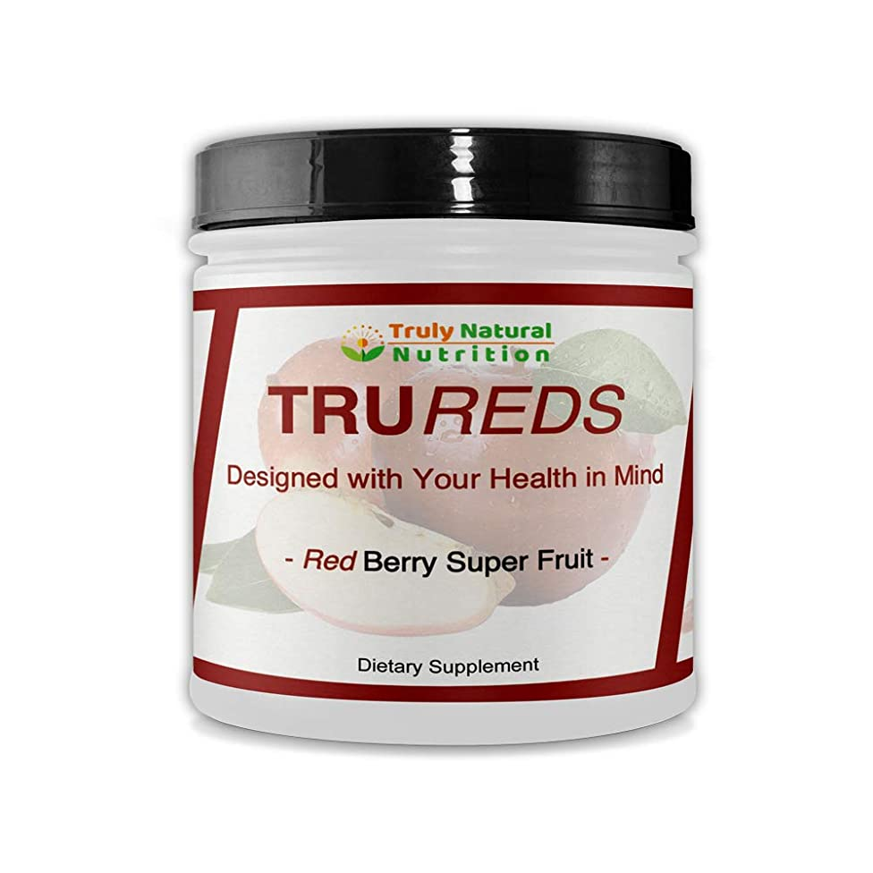 Truly Natural Nutrition Tru Reds | Organic Red Berry Super Fruit | 30 Servings | Superfood Powder Supplement | Non-GMO Micro-Filter Screening | 100% Natural Ingredients and Polyphenol Energy Blend