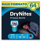 Huggies Drynites Mutandine Assorbenti per la Notte per Bambino, 16-23 Kg, Confezione da 64 Pezzi (4 x 16)