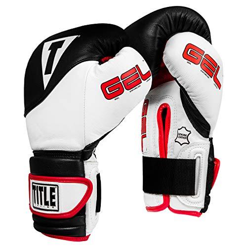 Title Boxing Gel Suspense Training Gloves, Black/White, 14 oz