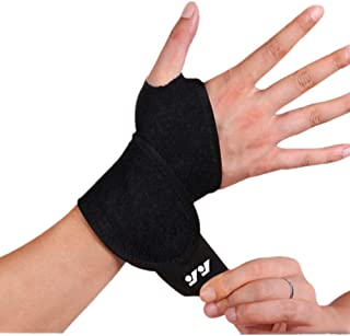 DSTong Wrist Support Brace Sports Exercise Training Hand Protector Neoprene Wrist Wraps with Thumb Loops -Suitable for Both Right and Left Hands(black/1pack)