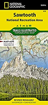 Sawtooth National Recreation Area  National Geographic Trails Illustrated Map  870