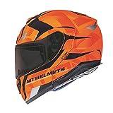 MT Atom SV Divergence - Casco de moto (talla L), color naranja fluorescente