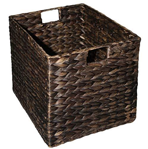KMH®, Große Korb-Box aus geflochtener Wasserhyazinthe (#204072)