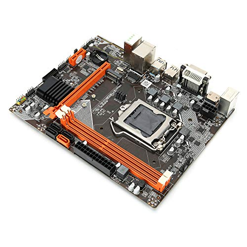 B75 Placa Base Computadora de Escritorio, LGA 1155 DDR3 1600/1333/1066 MHz Placa Base Computadora Compatible con Disco Duro de Modo Dual NVME + NGFF, Ranura PCI-EX1 / PCI-EX16 / USB3.0 / SATA3.0,