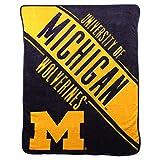 NCAA Collegiate Section Super Soft Plush Throw Blanket (Michigan Wolverines)
