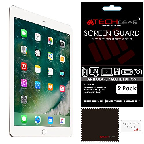 TECHGEAR [Pack of 2] Anti Glare Screen Protectors for New iPad 9.7' (2018/2017) - Matte Lcd Screen Protector Guards Compatible with Apple iPad 9.7' 6th and 5th Generations