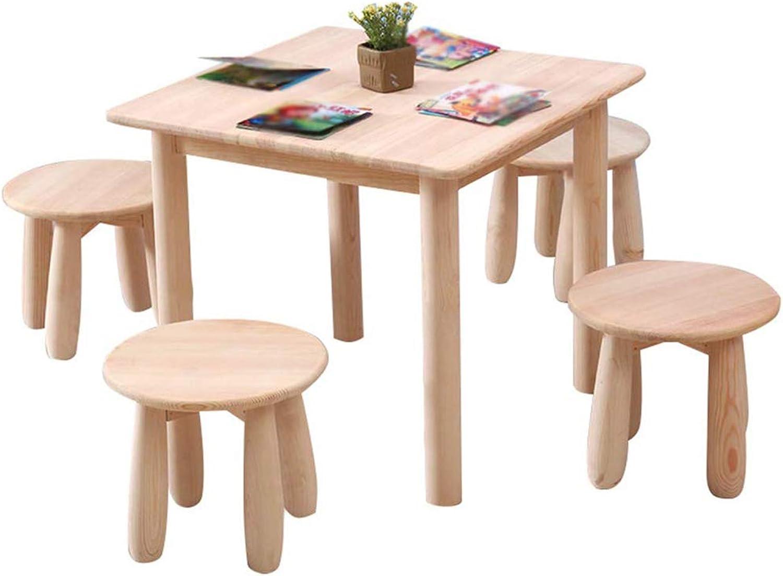 se descuenta Juego de mesa y y y silla de madera maciza ...