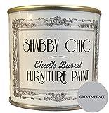 Pintura de cal para muebles en acabado shabby chic, gris