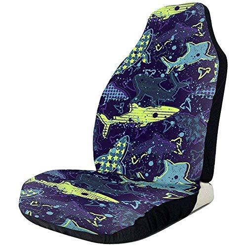 Alice Eva Riesige Shark Cute Glamour lustige Themen Auto Fahrzeug Front Chair Sitzbezüge Protector Set von 2