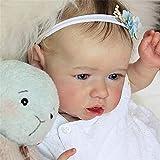 Muñeca Reborn Muñeca Niña Hecha a Mano Recién Nacida,22 Pulgadas 55 Cm Suave Cuerpo Completo Vinilo de Silicona Realista Muñecas de Bebé de La Vida Real Para Colección Niños de 3 años,Girl