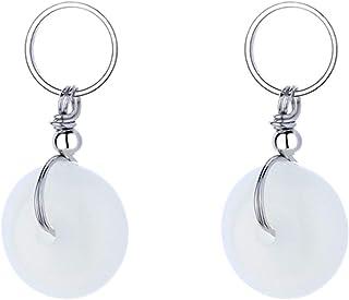 NW 1776 safe buckle earrings, Hetian jade earrings, simple female earrings, vintage jade earrings