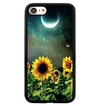 Oscar Yale iPhone Case for iPhone 6 Plus / 6s Plus Night Sunflowers Customized Design by Soft TPU and PC Hard Back Cover Shock-Proof Protective Case [Anti-Slippery]