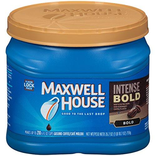 Maxwell House Intense Bold Dark Roast Ground Coffee (26.7 oz Canister)