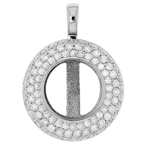 Medallón MY iMenso Sphérique/colgante de plata con circonita 14 mm 14-0077