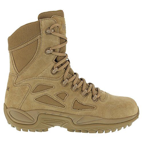 """Reebok Duty Women's Rapid Response Tactical Soft Toe 8"""" Boot A Coyote - 6 Wide"""