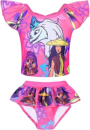 Sister.Studio Princess Swimsuit for Toddler Girls Two Pieces Bathing Suits Bikini Tankini Sets Swimming Holiday