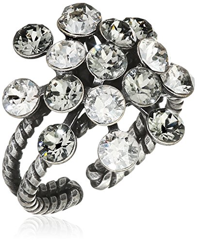 Konplott Damen-Ring Magic Fireball Messing Glas weiß Ringgröße verstellbar - 5450527778381