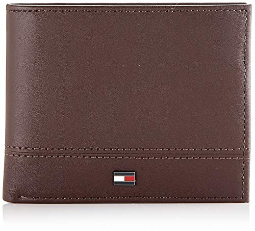 Tommy Hilfiger Th Essential Mini Cc Wallet, Portafoglio Uomo, Marrone (Testa Di Moro), 1x1x1 centimeters (W x H x L)