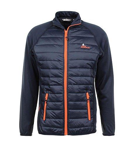 Peak Mountain CALER/WZ Blouson Homme, Marine/Orange, FR (Taille Fabricant : XL)