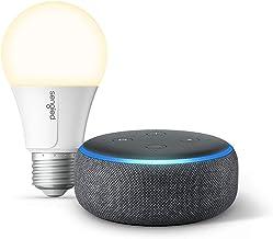 Echo Dot (3rd Gen) Charcoal Bundle with Sengled Wi-Fi Smart Bulb
