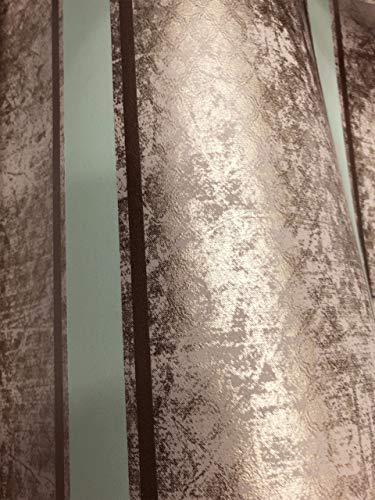 NEWROOM Tapete beige Streifen Linien Glitzer Vliestapete gold Vlies moderne Design Optik Barocktapete Wohnzimmer Klassik inkl. Tapezier Ratgeber