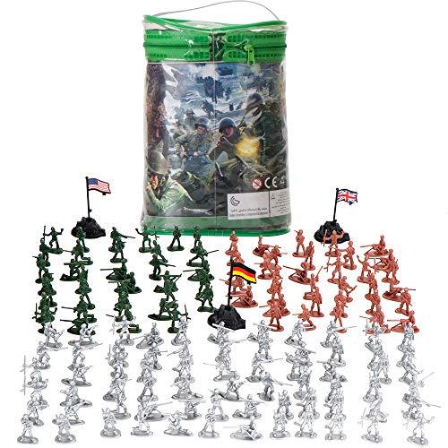 LBLA 300 Piezas Set Figuras de Soldados Militares Soldados De Juguete De Plástico Los Soldados de Juguete del Ejército para Niños