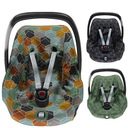 BriljantBaby DECO ** BabyFit 100% algodón Interlock Jersey ** Funda para Maxi-cosi Cabriofix, Pebble, Citi, Streety Fix etc. (Deco Multi Surf)