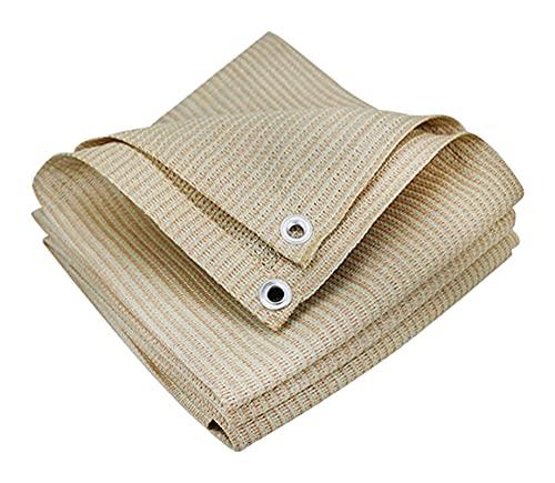 LLCY Tela de protección solar de color beige, resistente a los rayos UV, duradera para jardín, invernadero, flores, granero, perrera (color: beige, tamaño: 4 x 1,1 m)