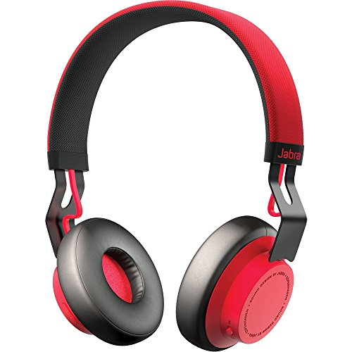 Jabra Move Wireless Stereo on-Ear-Kopfhörer (Bluetooth, kabellos Musik hören und telefonieren) rot