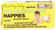 Beaming Baby Bio-Degradable Midi Nappies - (Size 2) Pack of 40 Nappies