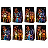 HONGFENG 12 Pack Party Gift Bags for Five Nights at Freddy's Party Supplies, Candy Bags Goodie Bags Party Favor Bags for Children Five Nights at Freddy's Theme Birthday Party Supplies Decorations