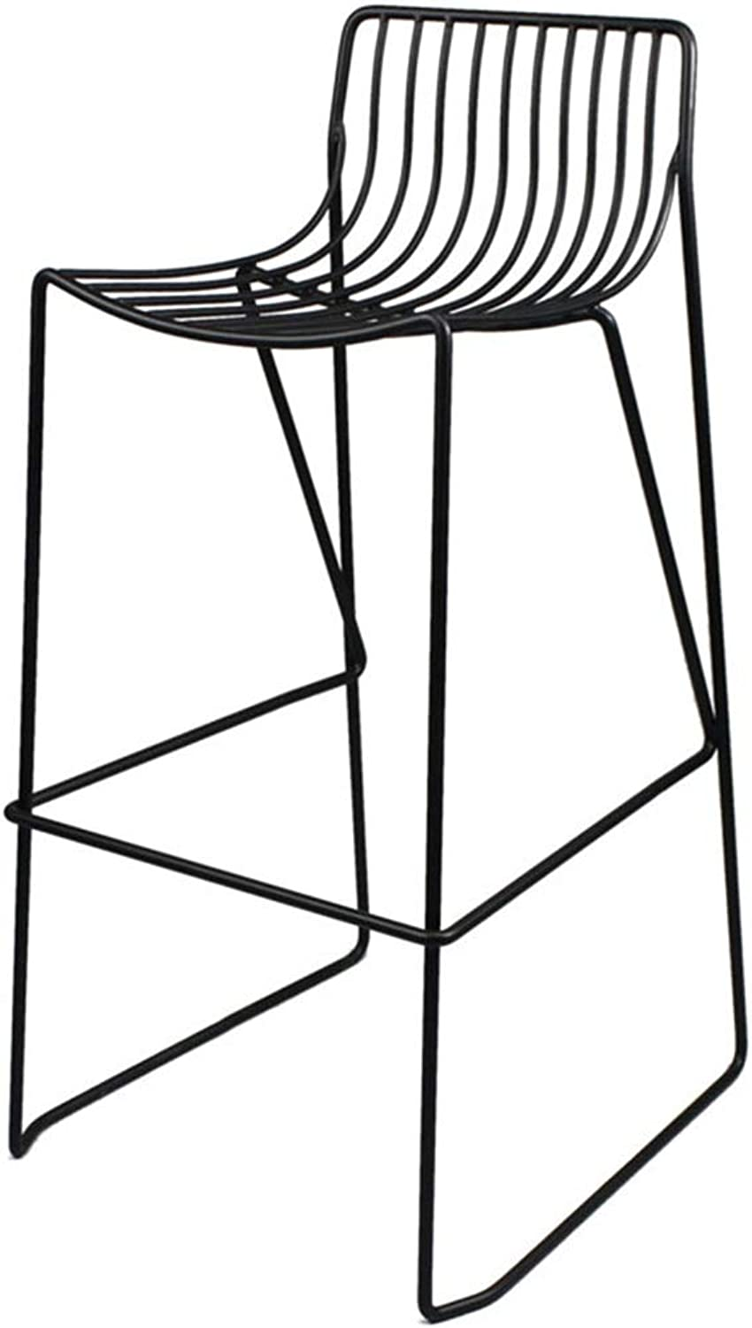 Bar Stools   Full Backed Dining Chair Backrest Stool, Bar Pub Dining Room Kitchen Home Furniture Indoor-Outdoor Stackable Stools Powder Coated Black Max. Load 440Lb
