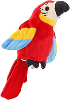 HOMYL Recording Parrots Soft Plush Bird Toy Electronic Pet Talking Back Repeating - Red