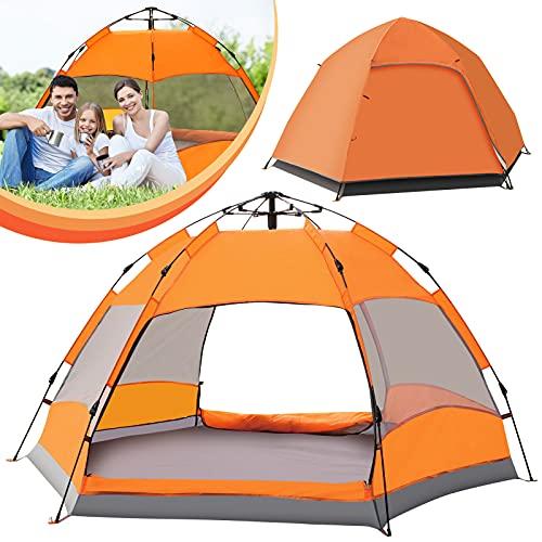 Tienda de campaña emergente Espaciosa para 2-4 personas, tiendas de campaña ventiladas e impermeables para acampar, senderismo, fiestas familiares, excursiones