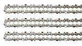 3 cadenas de motosierra Tallox .325' 1,3 mm 72 TG 45 cm espada cincel completo