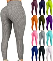 ZBTOP Women Gym Yoga Pants Butt Lifting Scrunch Booty Leggings Anti Cellulite Textured-Women's Bubble Hip Fitness Tights...