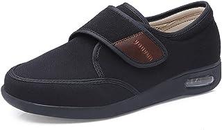 PXQ Zapatillas de recuperación para diabéticos de Ancho Extra Ancho para Hombres, Zapatos de Caminar Ajustables con amorti...