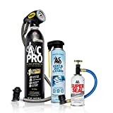 AC Pro Car Air Conditioner R134A Refrigerant Kit (3 items), AC Recharge Kit (20 Oz), Stop Leak (3 Oz), Vent & Duct Cleaner (10 Oz), 18575